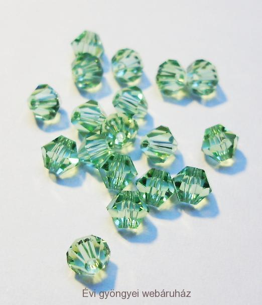 Cseh bicone 4mm - chrysolite