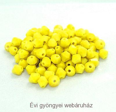 Cseh bicone 4mm - yellow jade