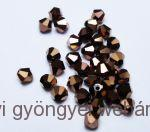 Cseh bicone 3mm - metallic copper