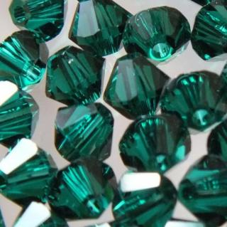 Cseh bicone 4mm - emerald