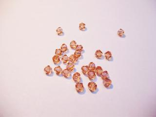Cseh bicone 4mm - peach