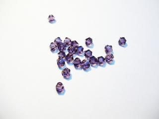 Cseh bicone 4mm - purple velvet